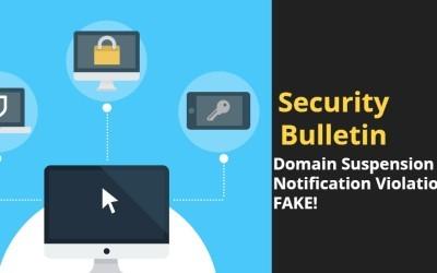 Domain Suspension Notice Violation – Fake Email